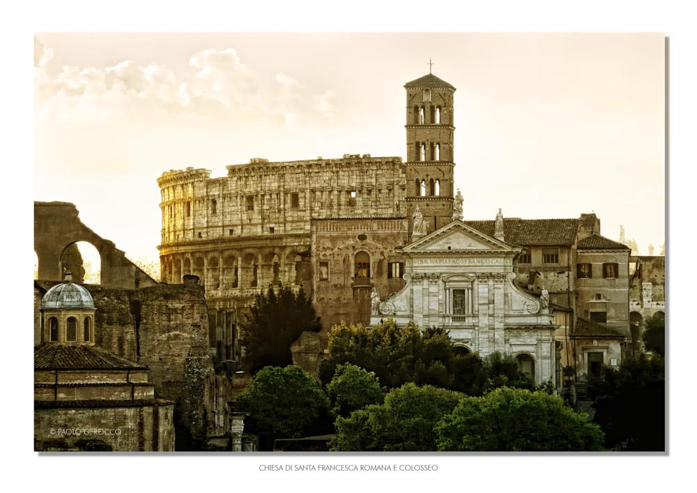 Photo in Cityscape #colosseo #rome #dawn #italy #ancient #imperial forum #fori imperiali