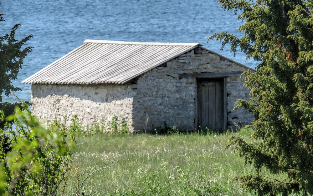 Photo in Architecture #cottage #sea #water #fisherman's house #canon #spring #gotland #fårö