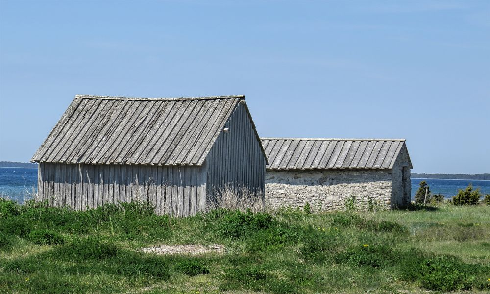Photo in Architecture #fishermanhouse #cottage #gotland #island #canon