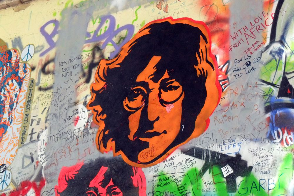 Photo in Street Photography #beatles #mural painting #colors