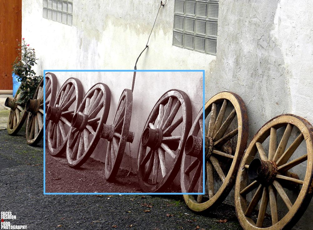 Photo in Abstract #old wagon wheels... #artistic view #eisenheim village #wurzburg germany #2016 #faces fashion & food photograp #richelled photographer #bavaria #abstract #street photography #still life