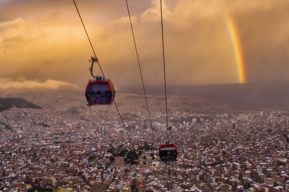 Photo in Street Photography #cable way #la paz #bolivia #rainbow