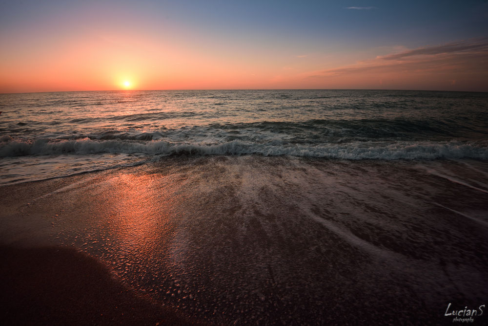 Photo in Sea and Sand #sea #beach #sunrise #waves #morning #summer