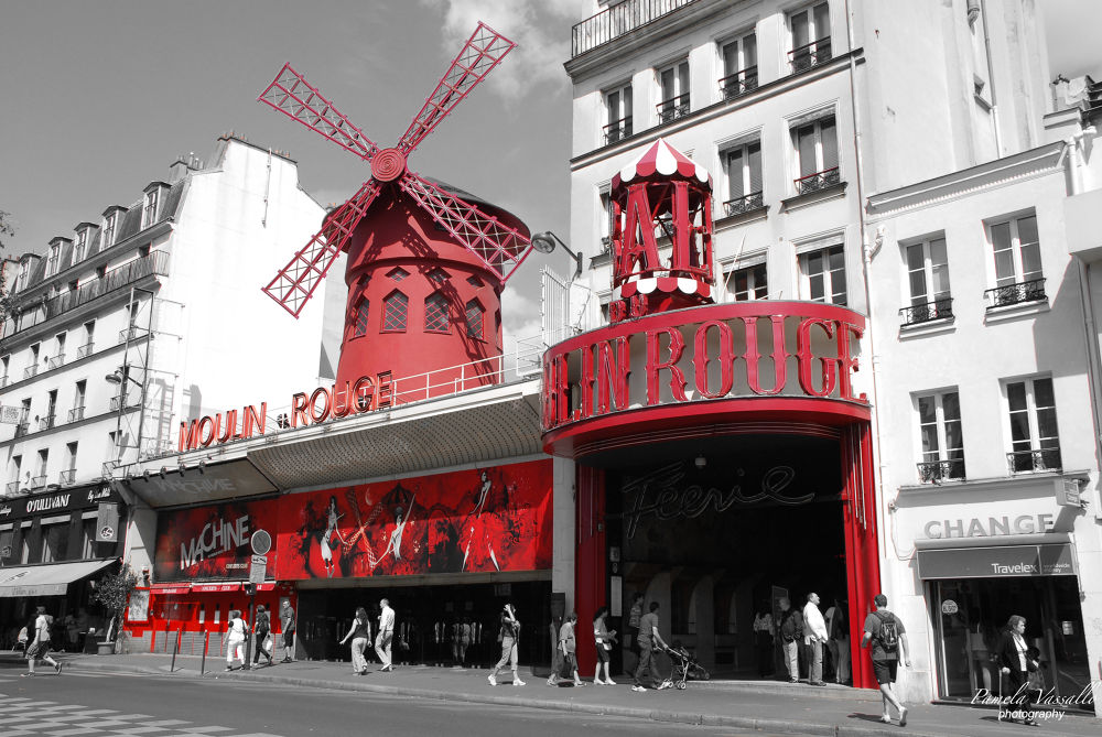 Photo in Cityscape #moulin rouge #red #paris #photo #pamela vassallo photography