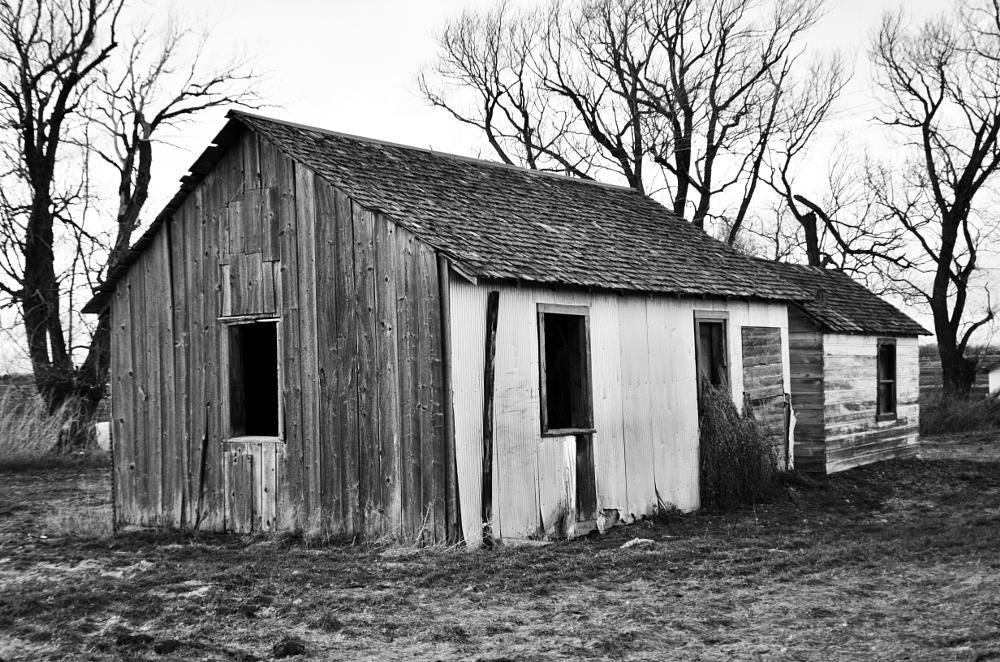 Photo in Rural #black and white #farmhouse #rural