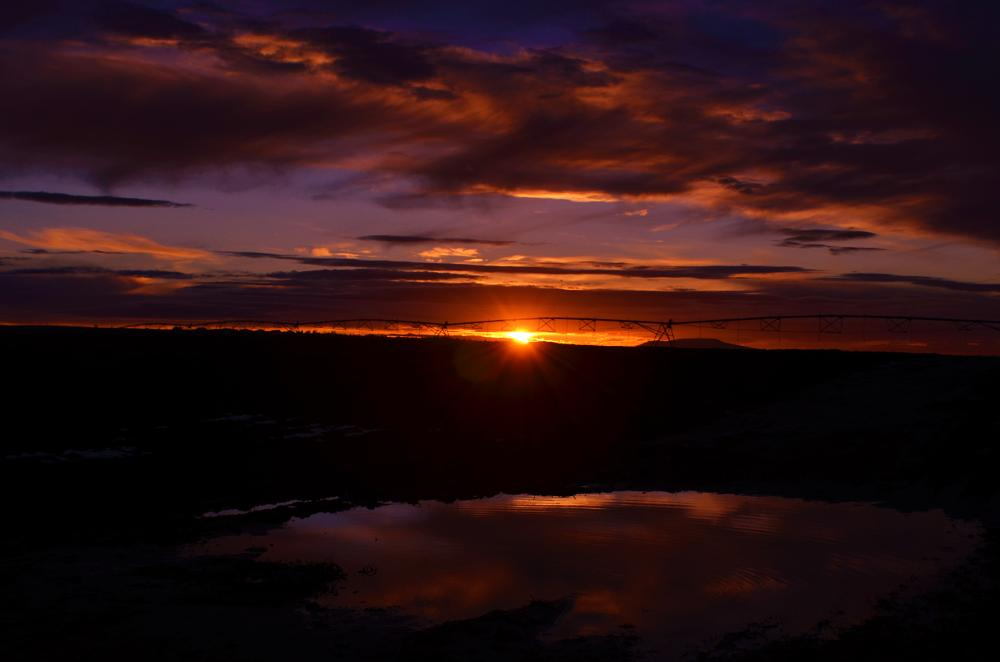 Photo in Landscape #sunset #mirror #reflect #rural