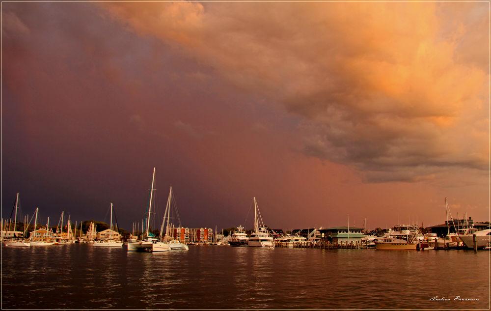 Photo in Random #storm #dusk #annapolis #yachts #usa #clouds