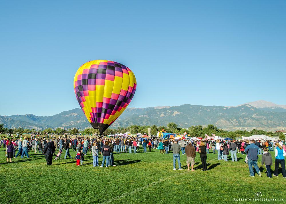 Photo in Travel #aerostat #air balloon #air balloons #colorado #colorado balloon festival #colorado rockies #colorful balloon #colorful globe #globes festival #festival #globos #hot air balloon #hot air #pikes peak