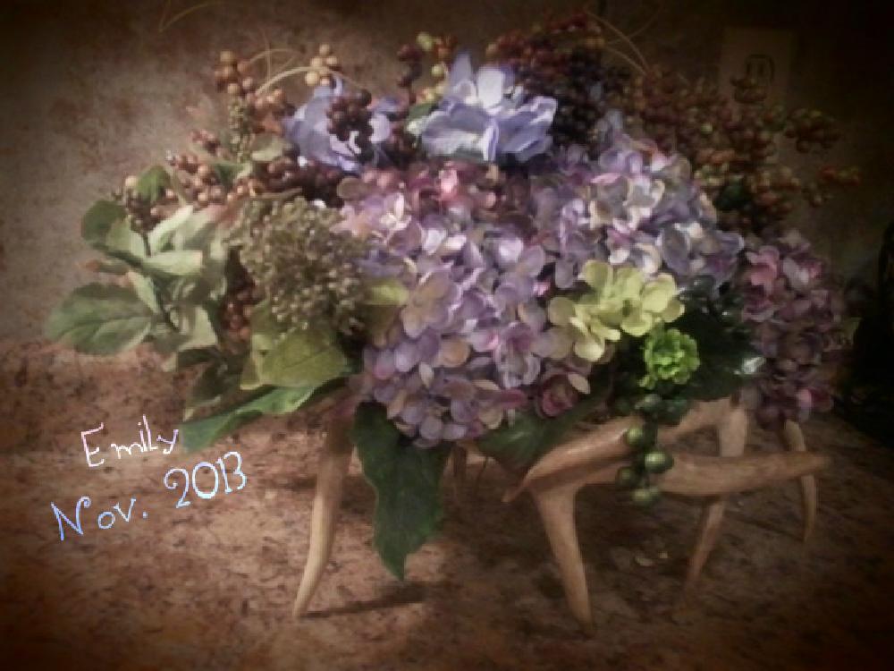 Photo in Random #deerantlers #flowers #centerpiece