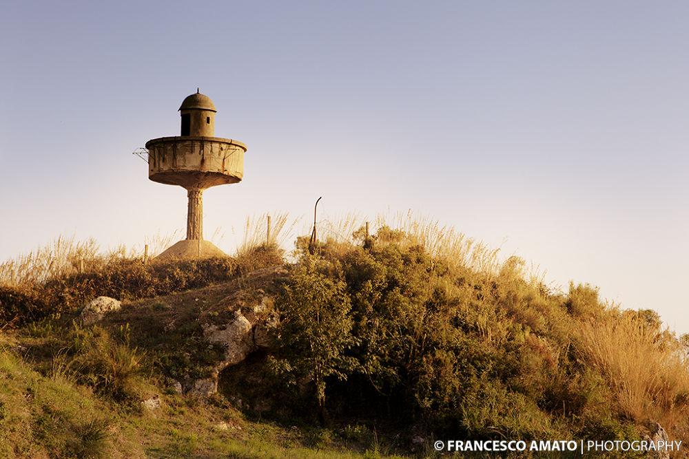 Photo in Landscape #control tower #controller #torre di controllo #sicilia #messina #forte dei centri #fortezza