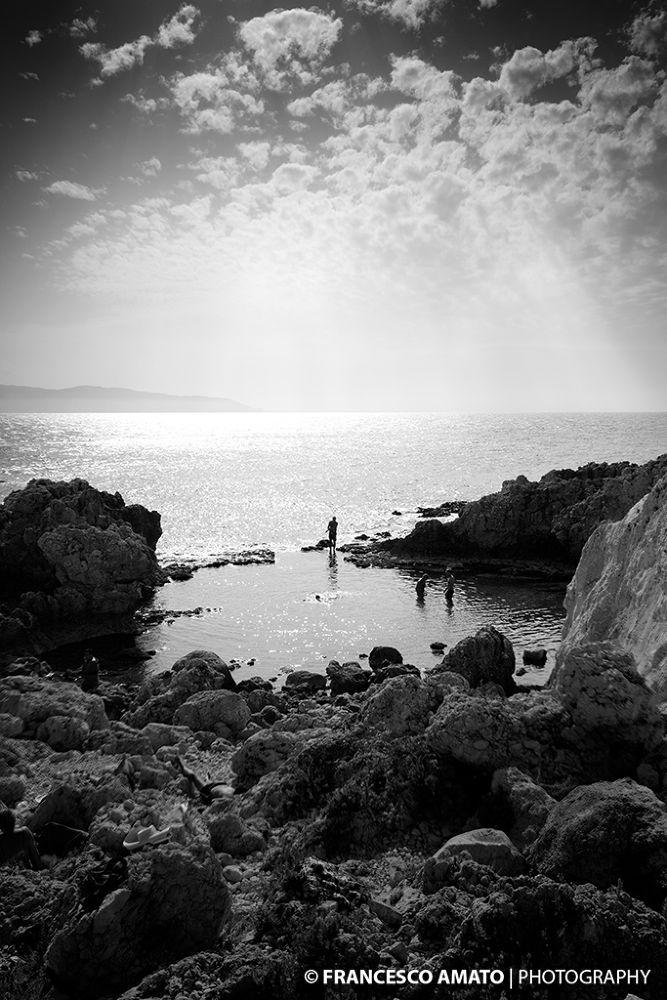 Photo in Black and White #piscina di venere #sicilia #messina #milazzo #natura #nature #costa #rocce #mare