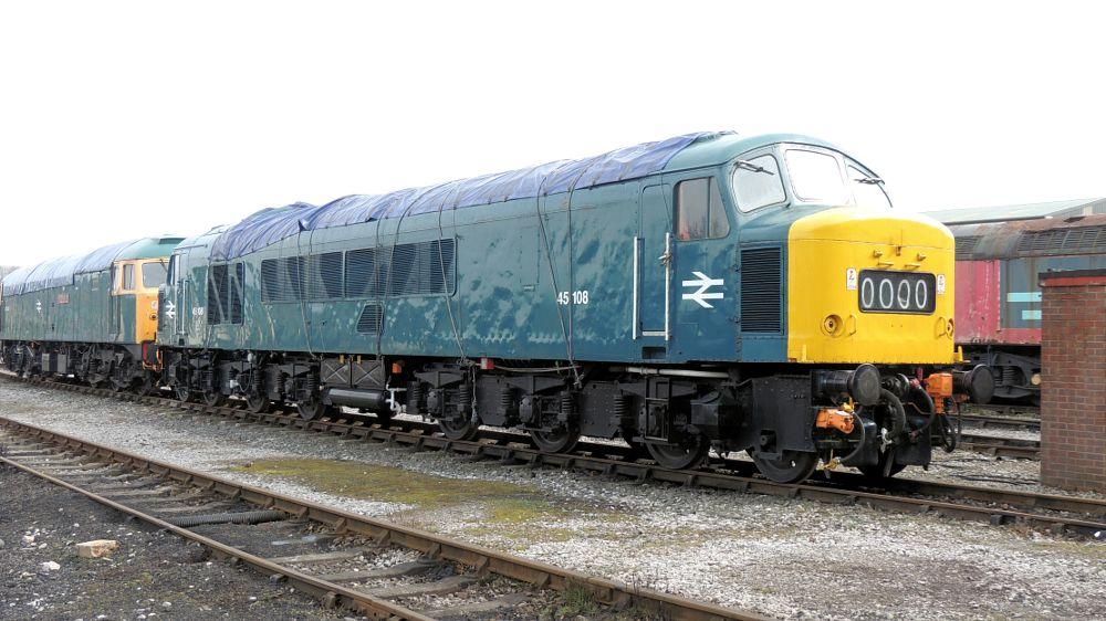 Photo in Vehicle #class 45 - 45108 1co-co1 diese #class 45 #45108 #1co-co1 #diesel #diesel electric locomotive #locomotive #butterley #railway #train