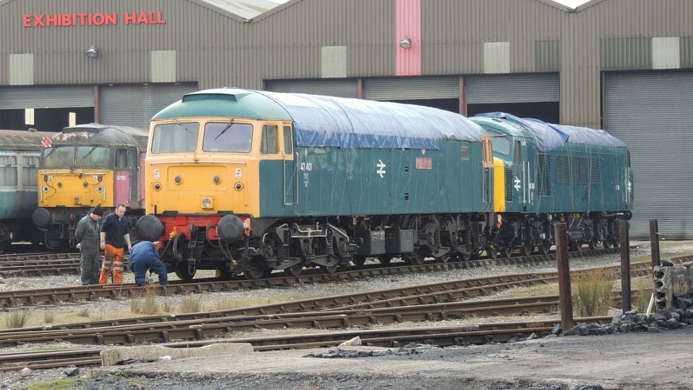 Photo in Vehicle #class 47 - 47401 co-co diesel  #class 47 #class 47 - 47401 #47401 #co-co #diesel electric locomotive #diesel #diesel electric #locomotive #train #butterley #railway