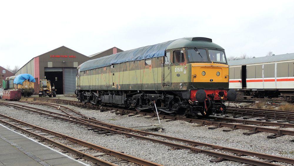 Photo in Vehicle #class 47 - d1516 co-co diesel  #class 47 #class 47 - d1516 #d1516 #diesel electric locomotive #co-co #locomotive #diesel electric #train #railway #butterley