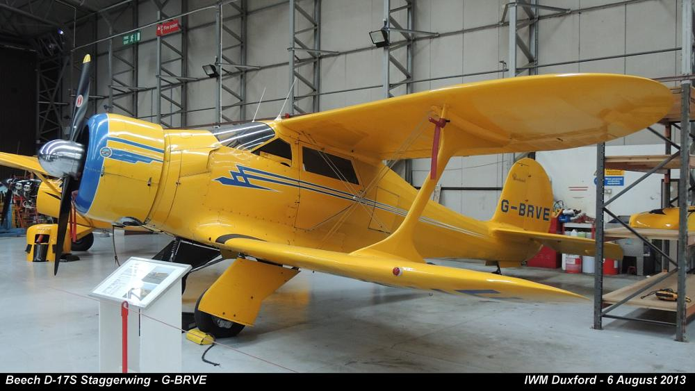 Photo in Vehicle #beech d-17s staggerwing - g-br #aircraft #beech #g-brve #light aircraft #staggerwing #iwm #duxford