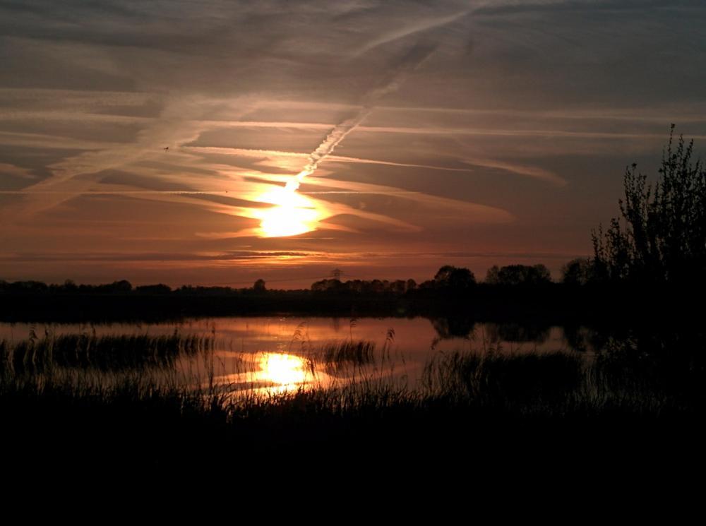 Photo in Nature #sunset #schildmeer #groningen #netherland