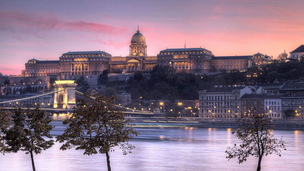 Photo in Travel #budapest #hungary #europe #sunset #castle #autumn