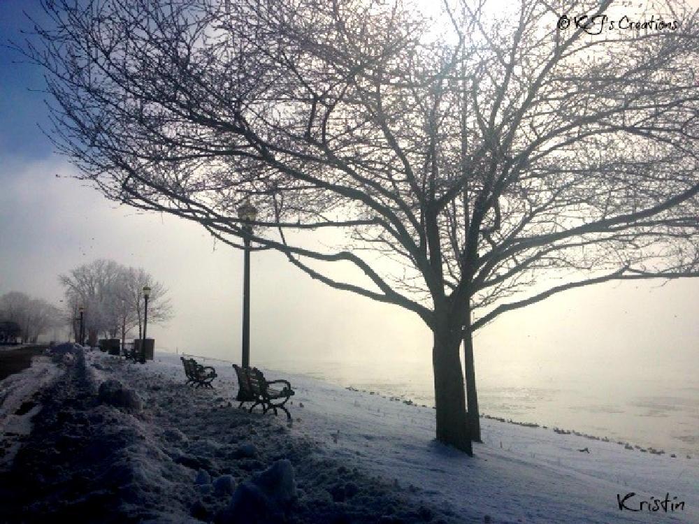 Photo in Landscape #river #winter #riverwalk #icyriver #fog #foggy