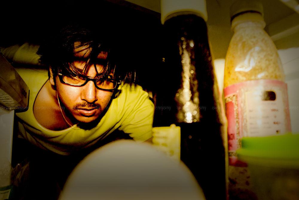 Photo in Random #hungry #fridge #refrigerator #self shot