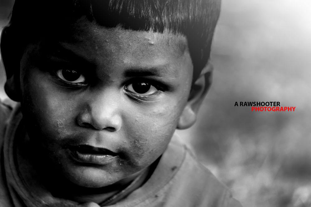 Photo in Street Photography #innocnce #kids #children #monochrome #rawshooter #motionstopper #sumansengupta #suman #india