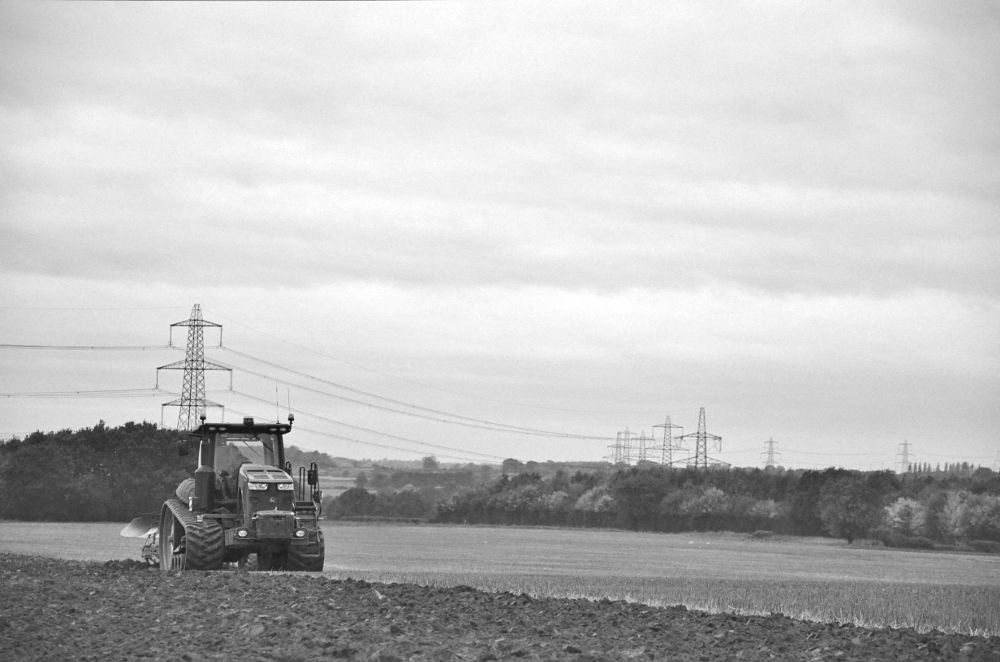 Photo in Black and White #agriculture #agricultural #farming #farm #ploughing #farmworks #farmworking #livinglandscape #landscape #scene