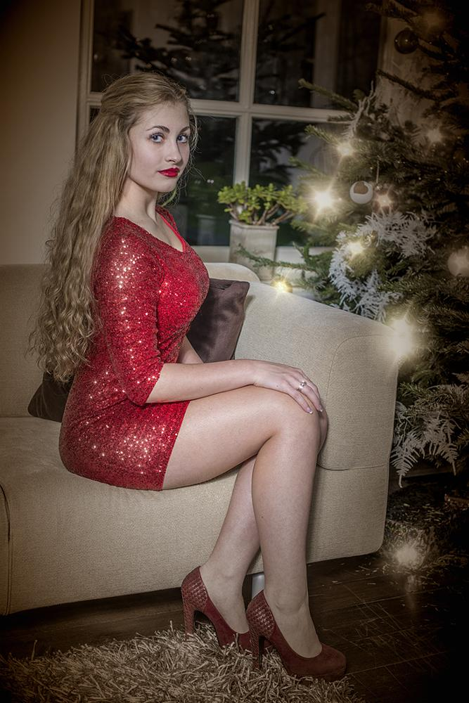 Photo in Portrait #girl #christmas #christmastree #couch