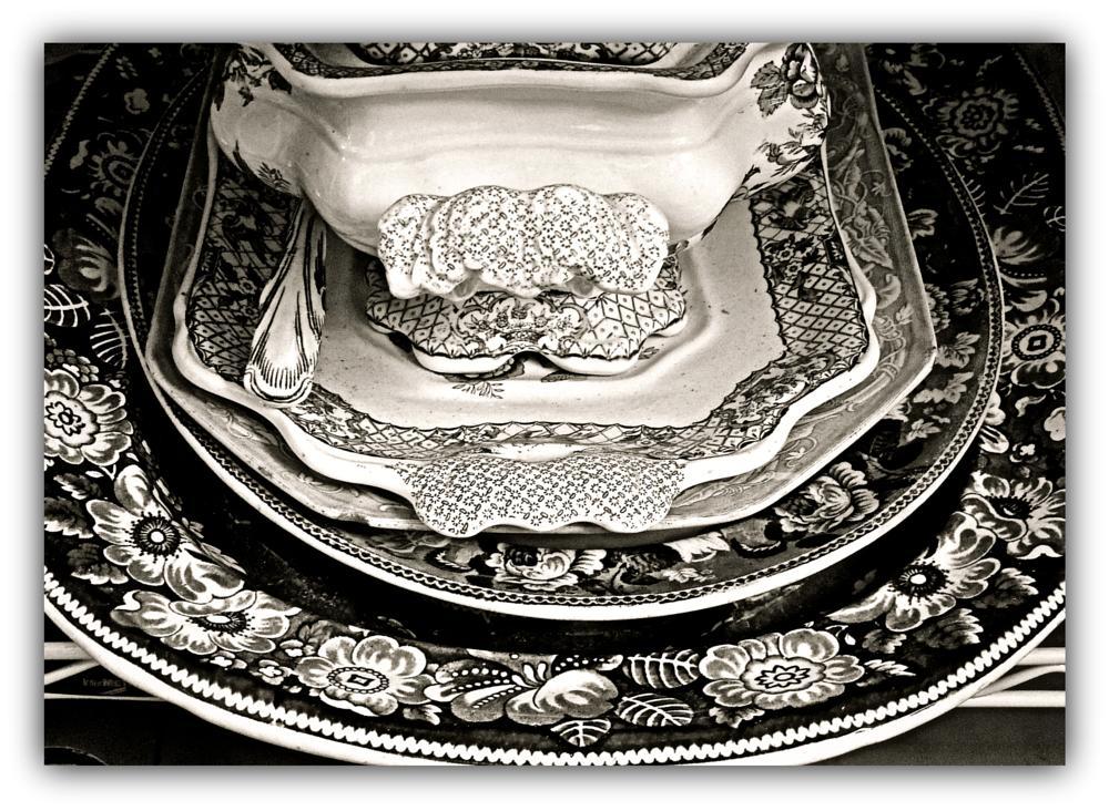Photo in Random #china #platters #antique #mono