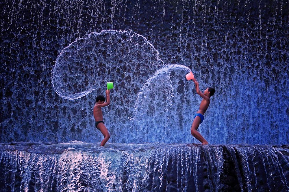 Photo in Random #waterfall #kids #children #tukad unda #ypa2013