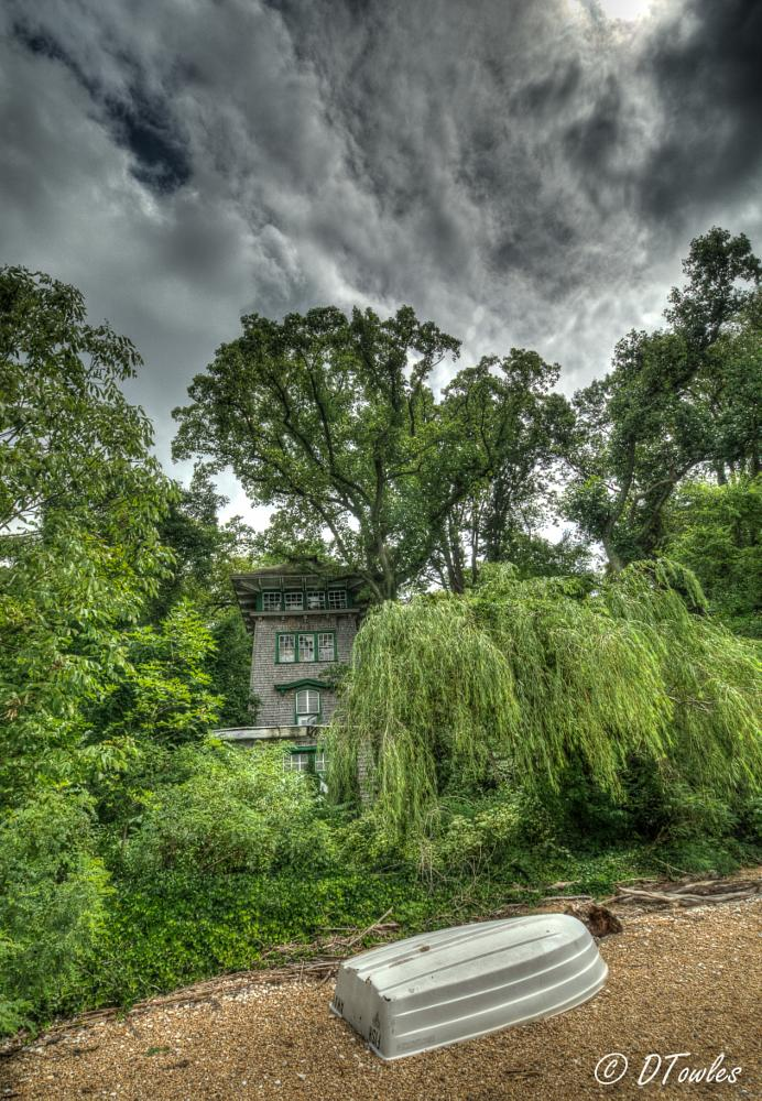 Photo in HDRI #maryland #hdr #tower #boat #haunted