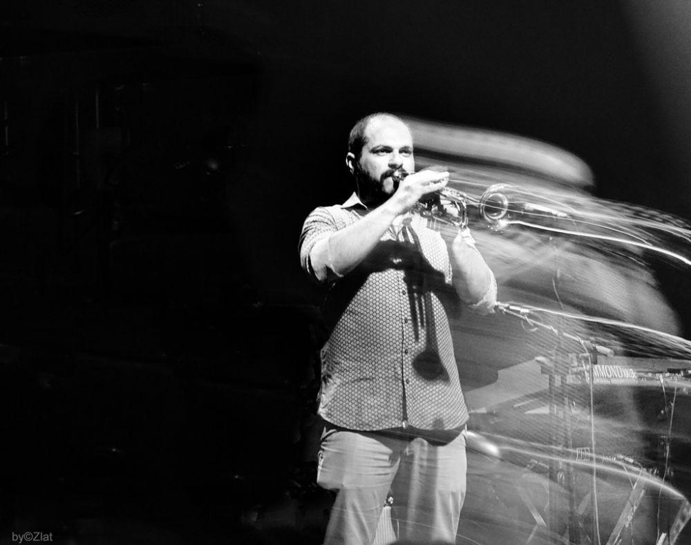 Photo in Concert #music #silence #longexposure #concert #musicians #trumpet