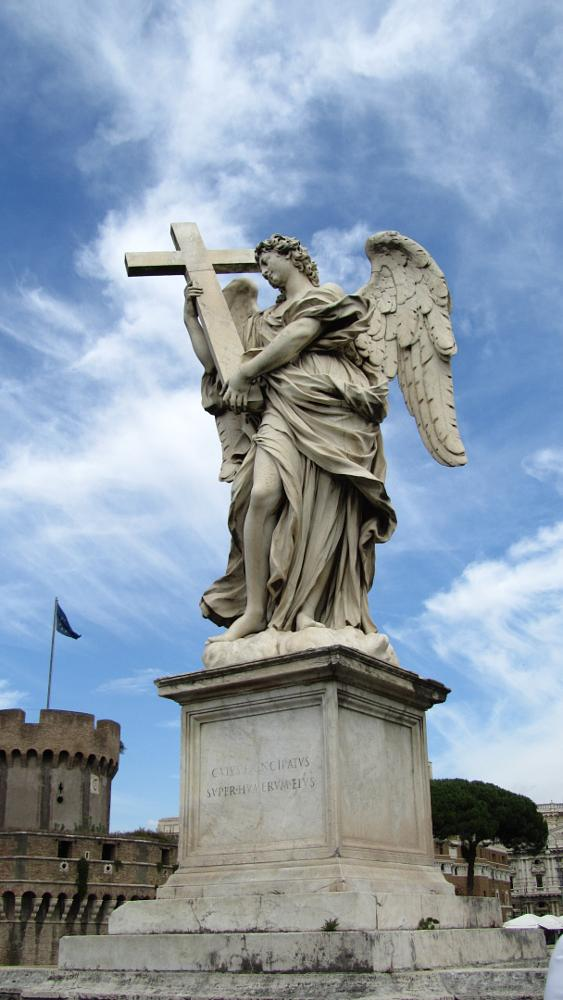 Photo in Architecture #angel with cross #ponte sant'angelo #tiber #castel sant'angelo #rome #italy