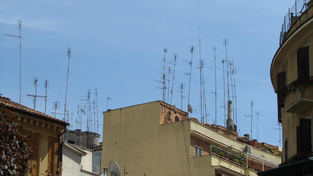 Photo in Random #antenna #roof #view #rome #italy