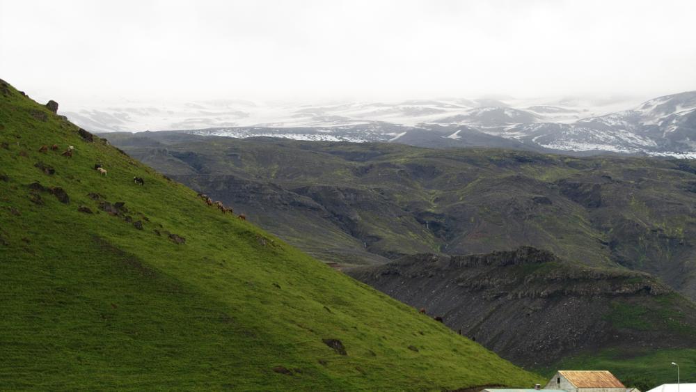 Photo in Landscape #eyjafjallajökull #volcano #flight caos #iceland