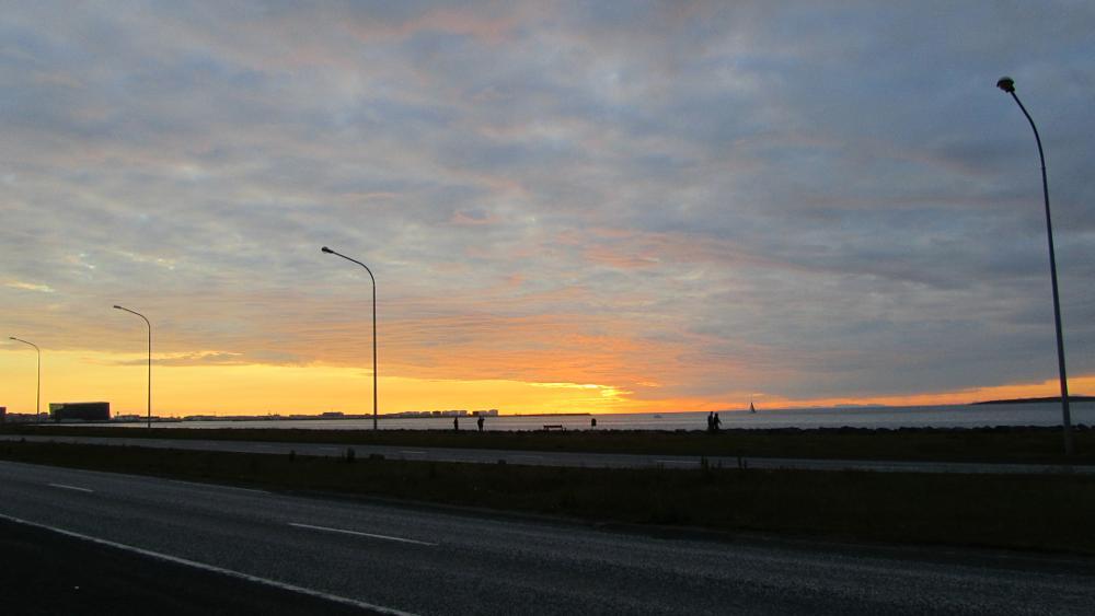Photo in Landscape #night sky #sunset #summernight #iceland #reykjavik