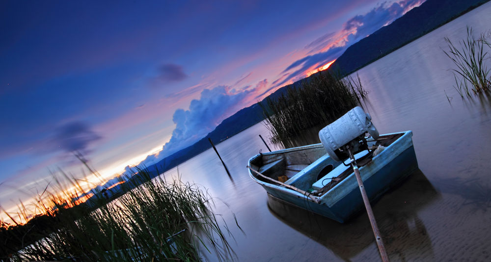Photo in Landscape #boats #sunset