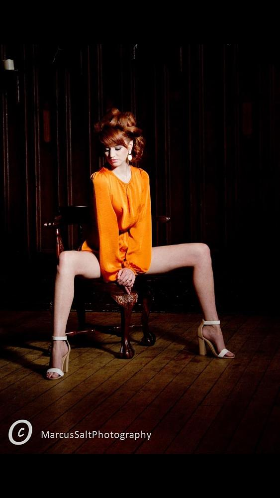 Photo in Fashion #fashion #model #ginger #chair