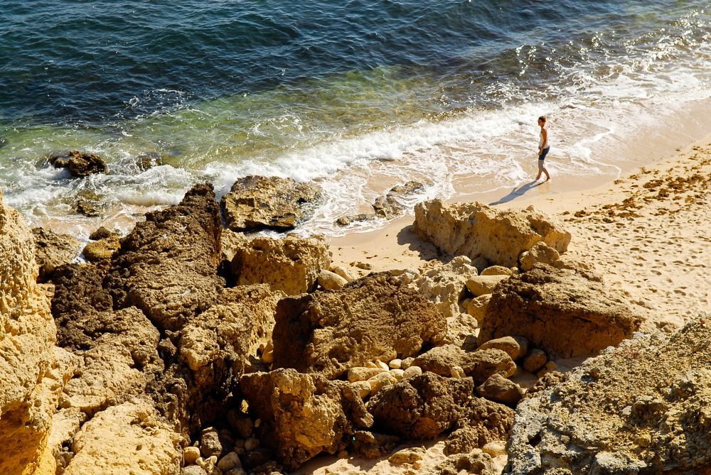 Photo in Random #rocks  and  stonesrocks and l #marshmarsh colorscolorssalt #sand #people #colors #beach #sea #seascape #rocks and sand #rocks #rocks sand and sea #blue and yellow