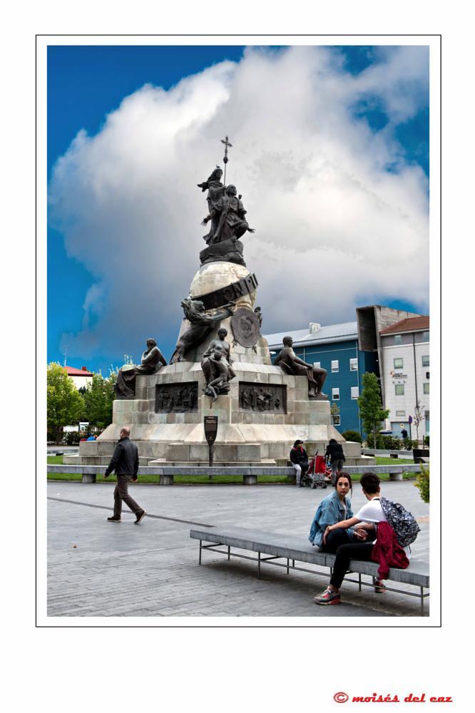 Photo in Cityscape #valladolid #colon #plaza #viajes #visitas #castilla y león #españa #paseo