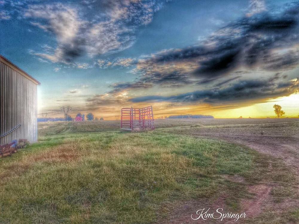 Photo in Nature #farming #farm #barns #country #nature #sunsets #wagons #hay #trails #paths