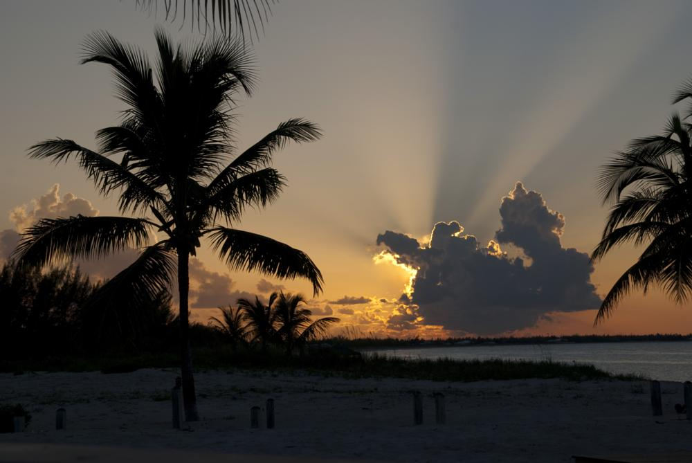 Photo in Sea and Sand #sunset #rays #bahamas