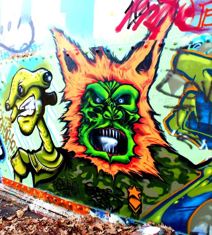 Photo in Urban #graffiti #colorful #monsters