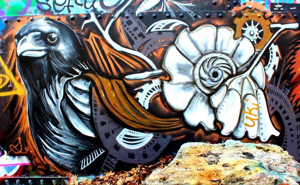 Photo in Urban #graffiti #colorful #crow