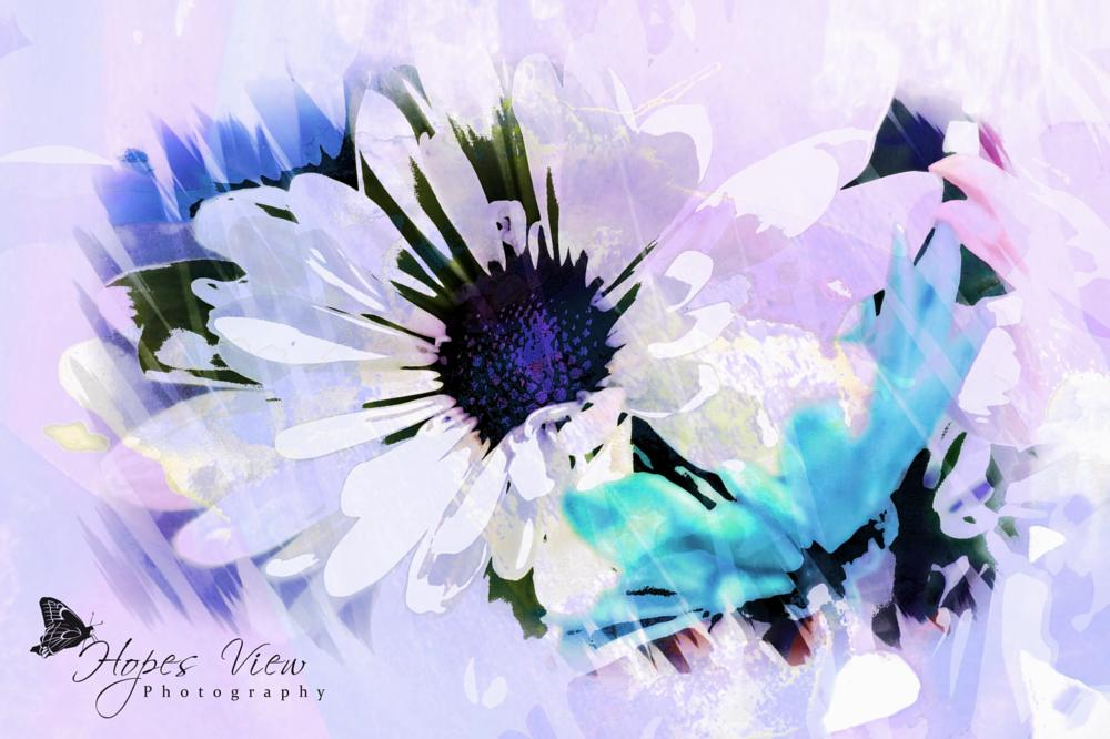 Photo in Fine Art #flower #art #purple #blue