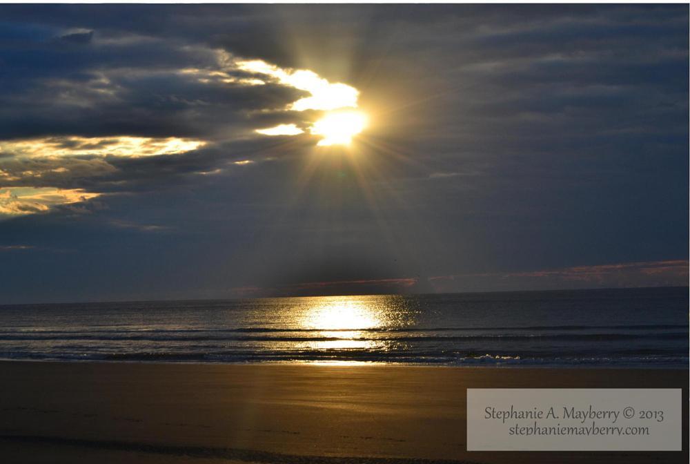 Photo in Sea and Sand #sunrise #sunset #beach