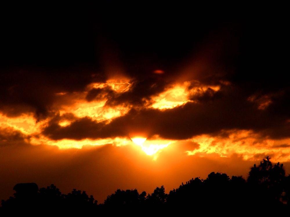 Photo in Landscape #sunset #fire #sun