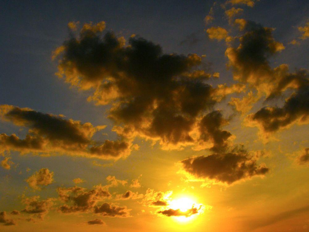 Photo in Landscape #sunset #clouds #sun #sunny #orange #landscape #sky