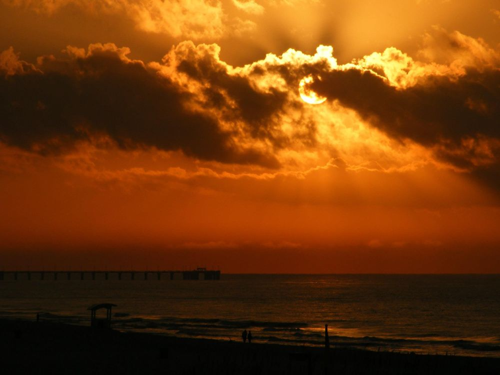 Photo in Landscape #sunrise #beach #ocean #sun #orange