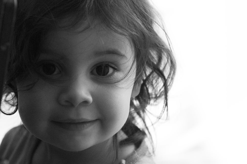 Photo in People #people #child #pentax #high key #tamron #black&white