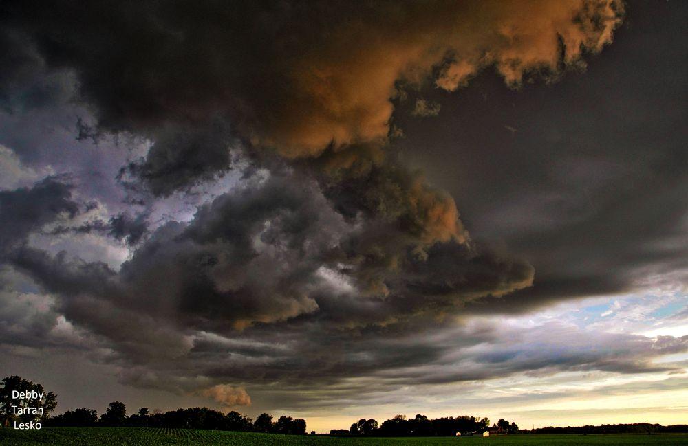 Photo in Random #clouds #swirl #sunset