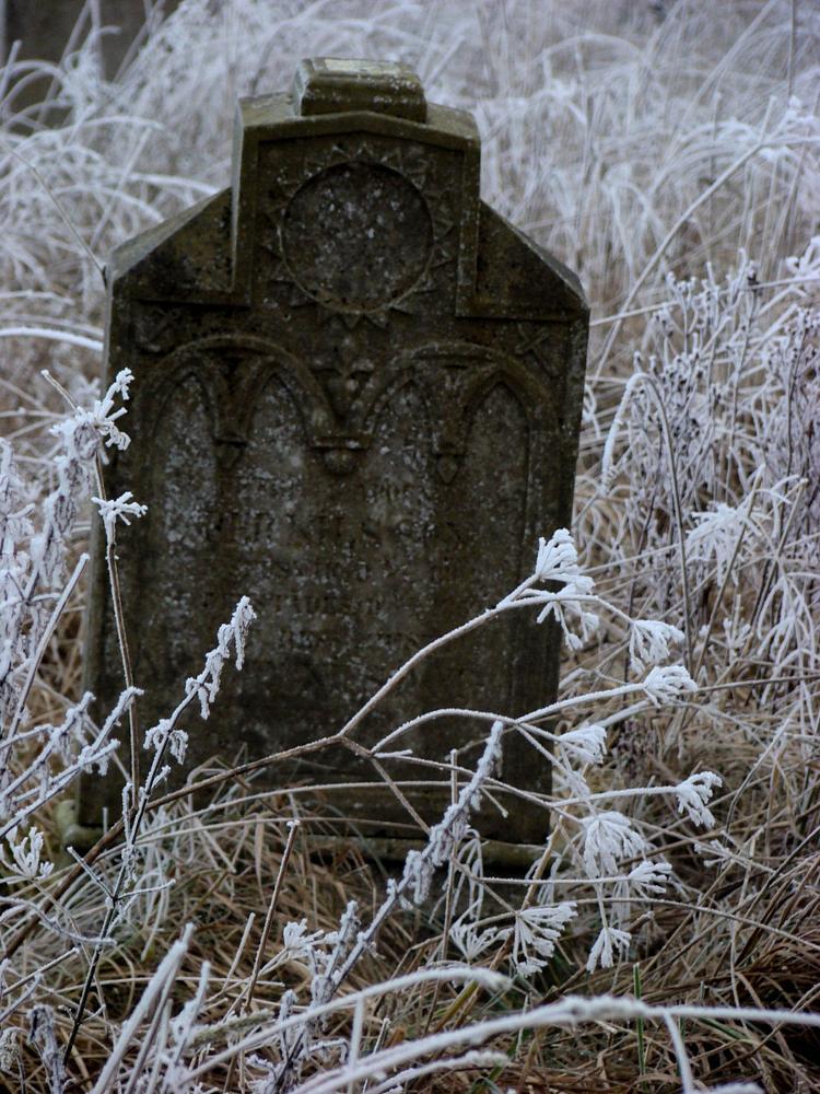 Photo in Random #stone #graveyard #winter #old